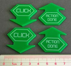 Android - Netrunner, Click Tokens (Green)