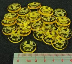 Coin Tokens - Gold, Transparent Yellow (26)