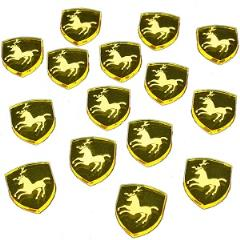 Power Tokens - House Stag, Transparent Yellow (15)