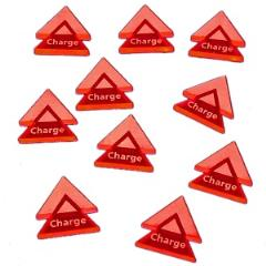 Charge Double Arrow Tokens- Fluorescent Pink (10)