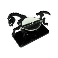 50x25mm Base - Skeletal Steed/Character Mount - Black