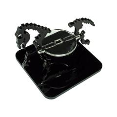 "2"" Square Base - Skeletal Steed/Character Mount Marker - Black"