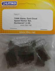 Dust Cloud Speek Marker Set - Numbered 1-4 (8)