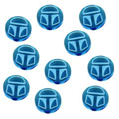 Shield Tokens - Fluorescent Blue