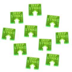 WHv8 - Deep Strike Tokens, Fluorescent Green (10)