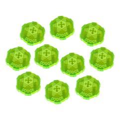 Dodge Tokens - Fluorescent Green