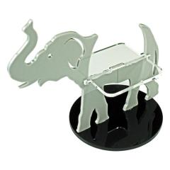 75mm Base - Elephant/Character Mount (Grey)