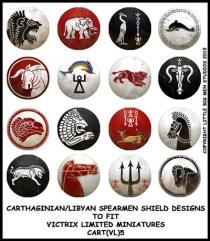 Carthaginian/Libyan Spearmen Shields - Type #5