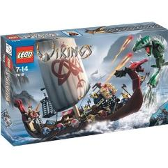 Viking Ship Challenges the Midgard Serpent
