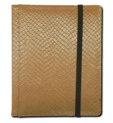 4-Pocket Binder - Elder Dragon Hide, Gold