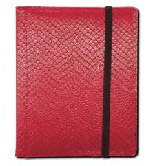 4-Pocket Binder - Elder Dragon Hide, Red