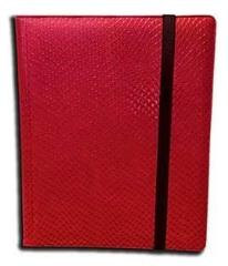 9-Pocket Binder - Elder Dragon Hide, Red