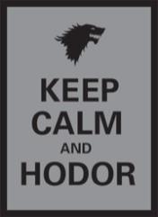 Standard CCG Size - Matte Finish, Keep Calm Hodor (50)