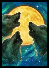 Standard CCG Size - 3 Wolf Moon (50)