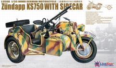 WWI German Zundapp KS-750 w/Sidecar - Plastic