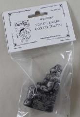 Statue - Lizard God on Throne