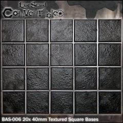 Square Bases - 40mm Textured (20)
