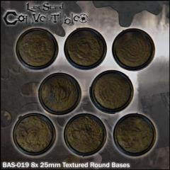 Round Bases - 25mm Textured (8)