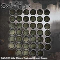 Round Bases - 25mm Textured (40)