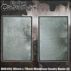 Monstrous Cavalry Bases - 50mm x 75mm Textured (2)