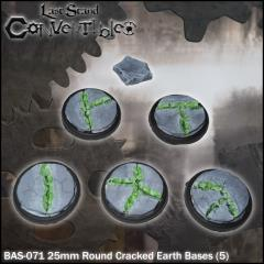 Round Bases - 25mm Cracked Earth (5)