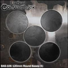 Round Bases - 120mm Textured (5)