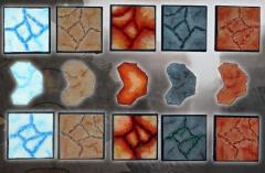 Square Bases - 50mm Cracked Earth (10)