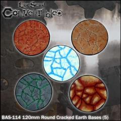 Round Bases - 120mm Cracked Earth (5)