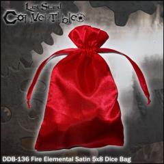 "Fire Elemental Dragon Satin (5"" x 8"")"