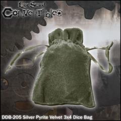 """Silver Pyrite Velvet (3"""" x 4"""")"""