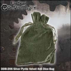 """Silver Pyrite Velvet (4"""" x 6"""")"""