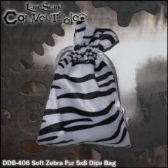 "Soft Zebra Fur (5"" x 8"")"