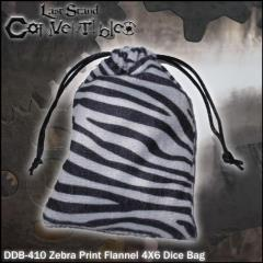 "Zebra Print Flannel (4"" x 6"")"
