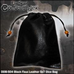 "Black Faux Leather (5"" x 7"")"