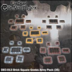 Brick Square Grates Army Pack