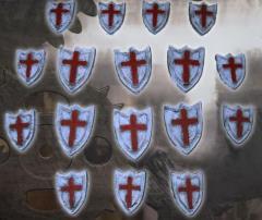 Knight Shields - Templar Cross