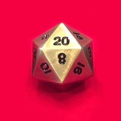 Metal D20 - Bronze