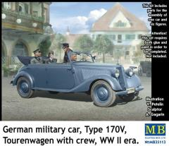 German Military Car - Type 170V Tourenwagen w/Crew