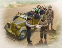 """U.S. Paratroopers & Civilians w/German Army 170VK Car - """"Hitching a Ride"""""""