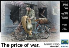 "European Civilian 1944-45 w/Bicycle - ""The Price of War"""