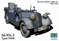 Sd.Kfz.2 Type 170VK German Military Radio Car w/Passenger Figure Set