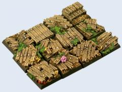 20x20mm Wood - Square Bases