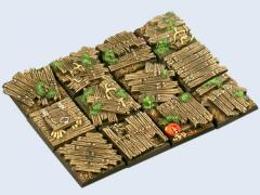 25x25mm Wood - Square Bases