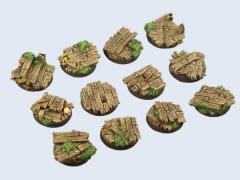 25mm Wood - Round Bases