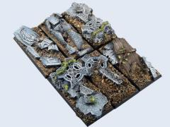 25x50mm Graveyard - Cavalry Bases