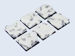 40x40mm Snow - Square Bases