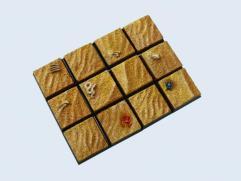 20x20mm Desert - Square Bases