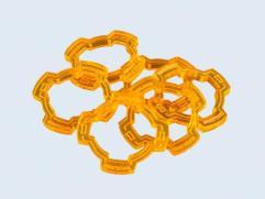 Wound Rings - Fluorescent Orange (6)