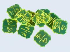+1/+1 Tokens - Fluorescent Green (10)