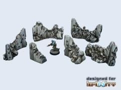 Concrete Wall Destroyed Set
